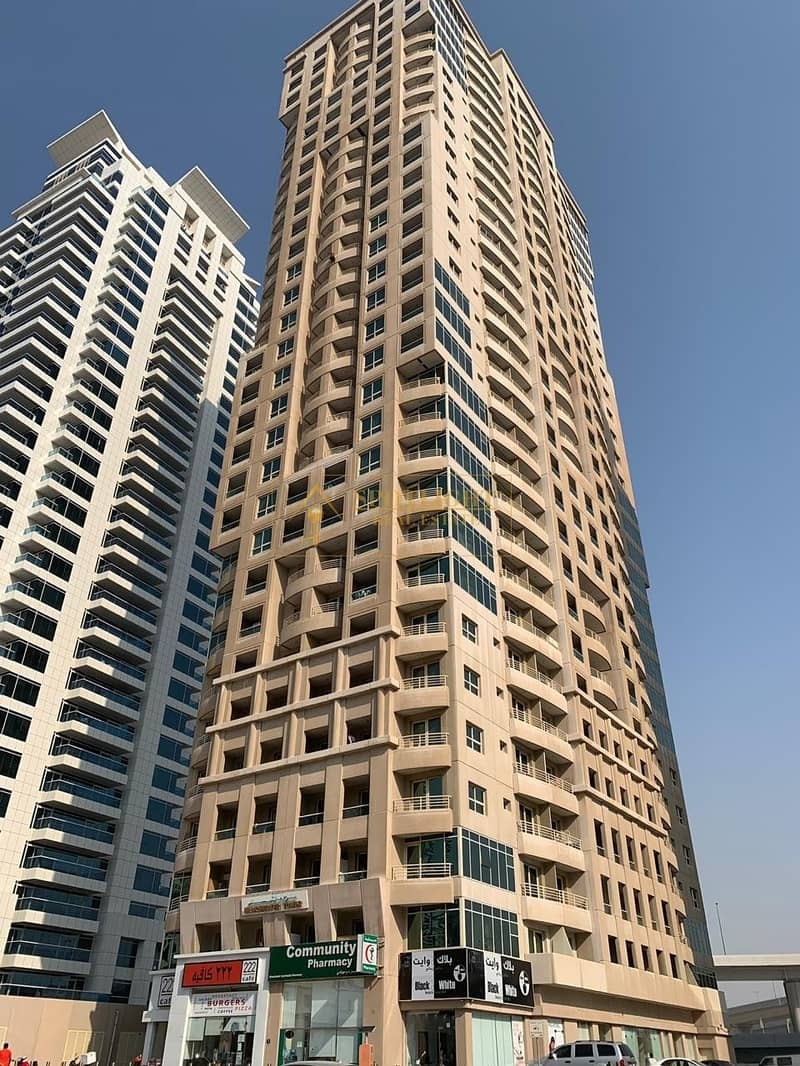 Chiller free ! 1 Bedroom with big balcony ! marina view for rent in Manchester Tower