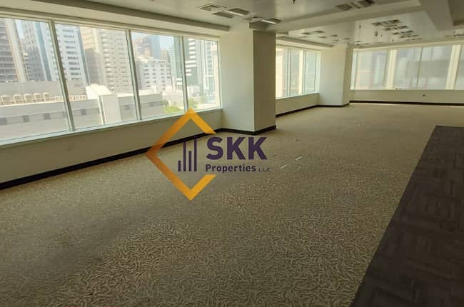 Fitted Office Space w/Glass partition|Al nasr St.