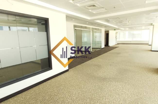 2 Fitted Office Space w/Glass partition|Al nasr St.
