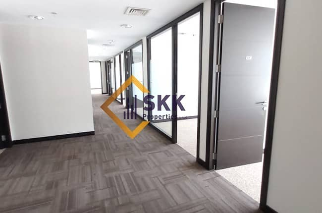 13 Fitted Office Space w/Glass partition|Al nasr St.
