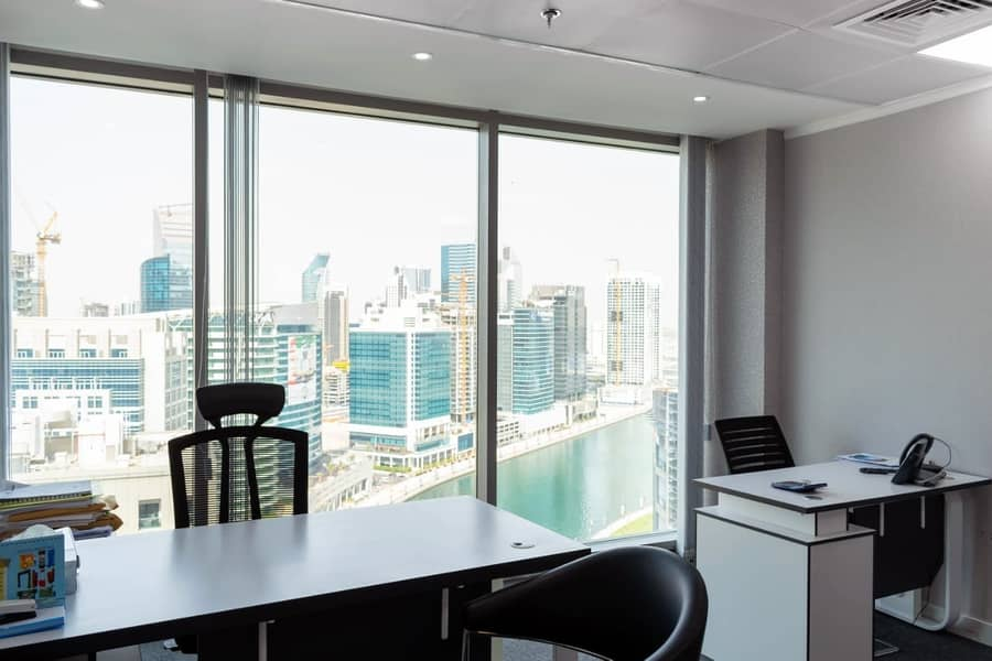 2 Furnished office all inclusive with parking - No commission