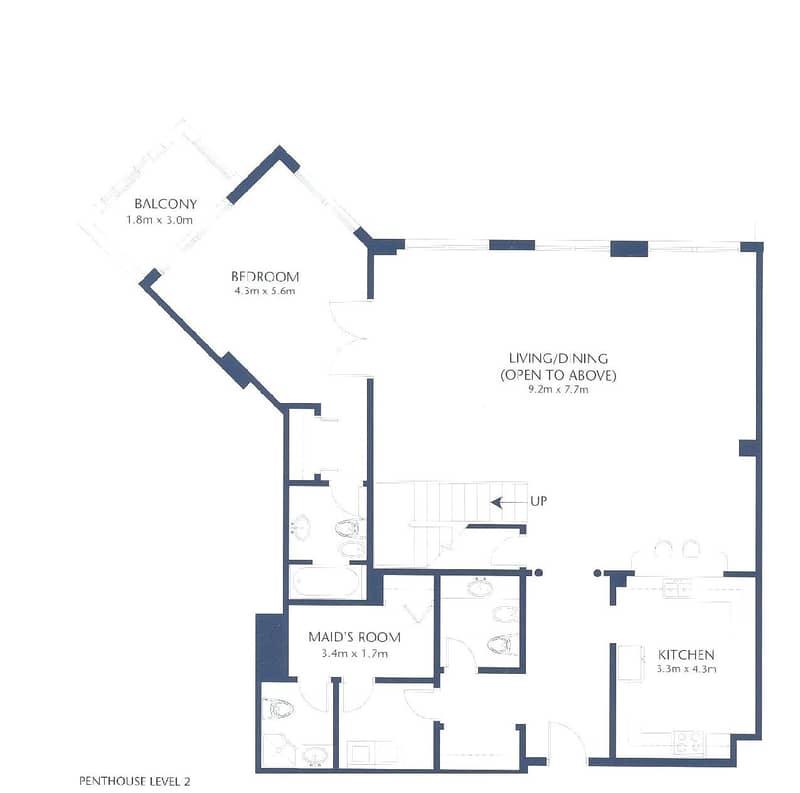 10 Full Sea View |  Duplex Penthouse | 4 Beds
