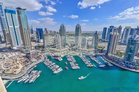 شقة 2 غرفة نوم للايجار في دبي مارينا، دبي - Full Marina View | 2 Bed with 2 Balcony