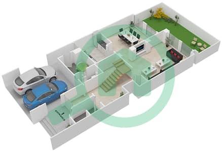 المخططات الطابقية لتصميم النموذج A3 فیلا 4 غرف نوم - قرية خالدية