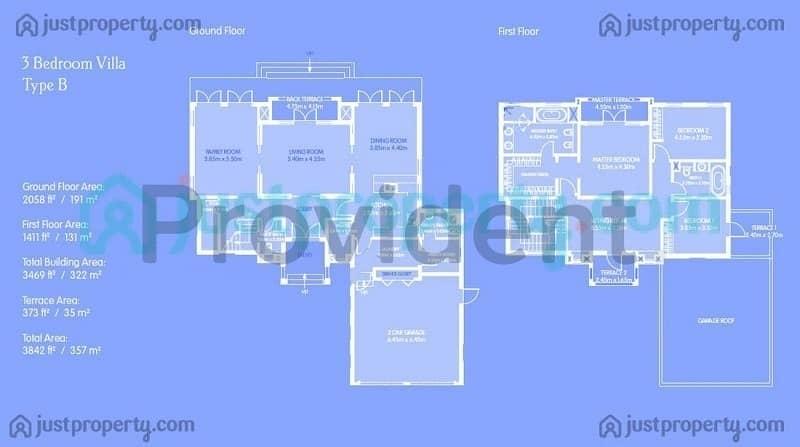 14 3BR  Villa  Stand Alone Vacant Brand New