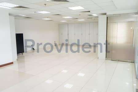 مکتب  للايجار في البرشاء، دبي - Fitted Office | Entrance From Shaikh Zayed Road