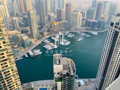 2 Bedroom Apartment for Rent in Jumeirah Beach Residence (JBR), Dubai - High Floor | Marina View in All Rooms | 2BR