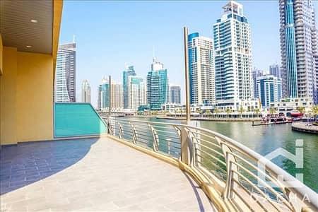 2 Bedroom Flat for Rent in Dubai Marina, Dubai - 2 bedrooms  Private terrace  Full Marina View