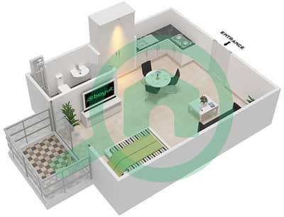 المخططات الطابقية لتصميم النموذج 1 شقة  - لونز من دانوب