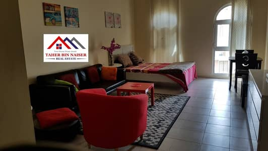 Studio for Rent in Discovery Gardens, Dubai - Maintained and Clean Fully Furnished Large Studio in Mediterranean Cluster