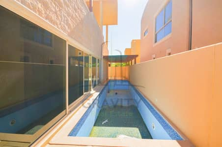 5 Bedroom Villa for Rent in Al Raha Gardens, Abu Dhabi - Stylish modern 5BR villa w/ private pool in Al Mariah