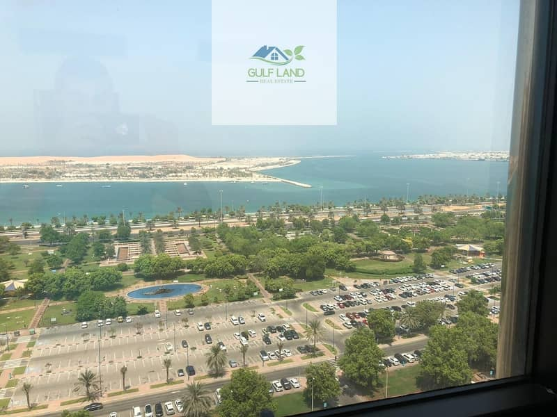 2 Sea view 3 bedrooms apartment 4 bathrooms maids room in corniche area for rent
