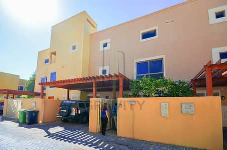 3 Bedroom Townhouse for Rent in Al Raha Gardens, Abu Dhabi - 2chqs! Lovely home w/ maids room 3BR in Khannour