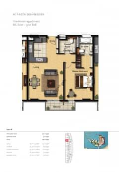 1-Bedroom-Apartment-Plot-808-Type-1B