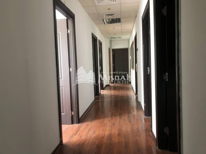 2 Office for Rent in Garhoud with partitions at 63/sq.ft for 1380 sq.ft & 1884 sq.ft