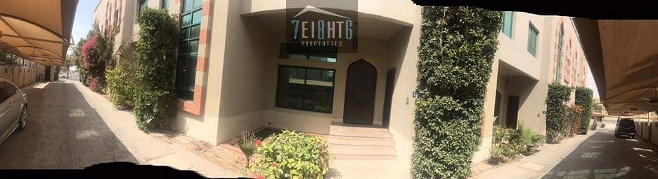 10 Beautifully designed: 4 b/r high quality semi-indep + maids room + sharing s/pool + garden for rent in Umm Suqeim  3