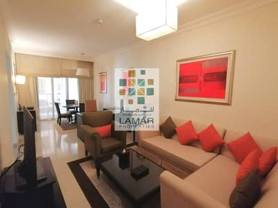 2 Bedroom Hotel Apartment for Rent in Barsha Heights (Tecom), Dubai - Burj Al Arab View - 2BR with Large balcony - All bills inclusive