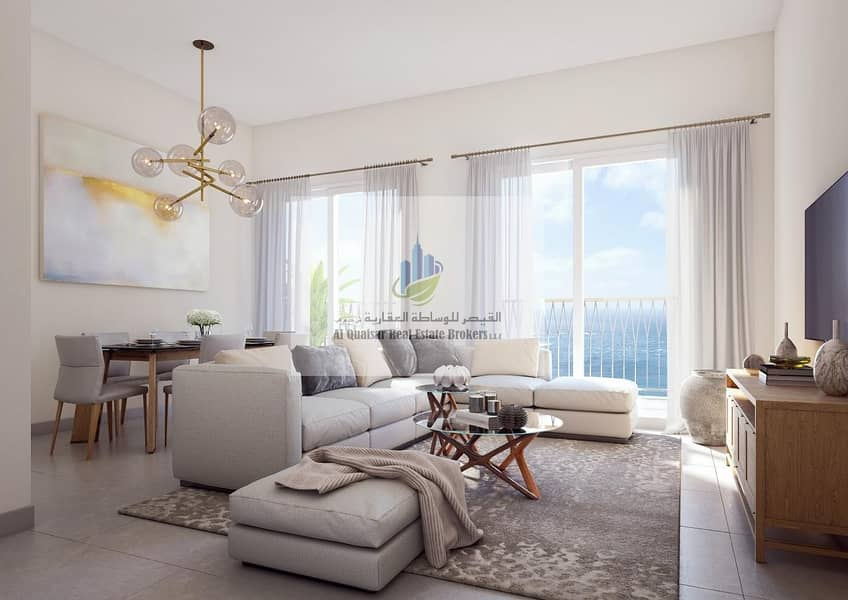 Pay only 10% and get your apartment overlooking the Corniche in sharjah