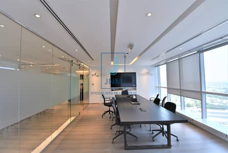 Office for Rent in Jumeirah Lake Towers (JLT), Dubai - Corner Fitted Office with 2 Parking Slots