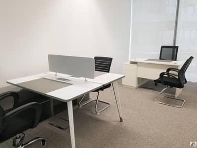 مکتب  للايجار في شارع الشيخ زايد، دبي - Smart Office  Solution Fully serviced and furnished Building is linked with Burjuman Metro