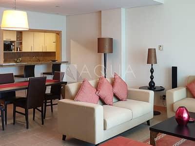 فلیٹ 1 غرفة نوم للايجار في نخلة جميرا، دبي - Exclusive 1 Bedroom Sea view Shoreline