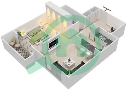 Tennis Tower - Studio Apartments type C Floor plan