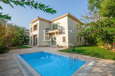 4 Bedroom Villa for Rent in Jumeirah Islands, Dubai - Partial Lake View | Garden Hall 4BR+M+S | JI