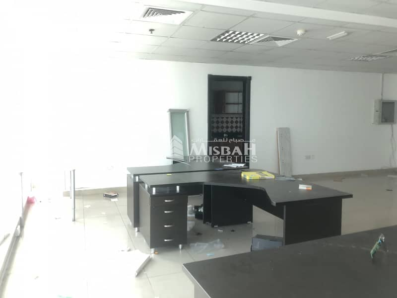 2 1134sqft Office @ AED 55/sq.ft  with Free Parking Near Al Mulla Plaza