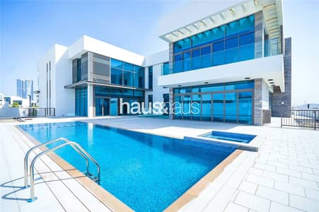 فیلا 7 غرف نوم للبيع في مدينة محمد بن راشد، دبي - Genuine Listing | On the Lagoon | Basement