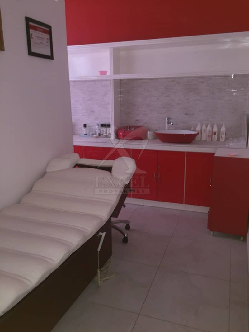 2 Fully Equipped Beauty Center  main road of Jumeirah 3.