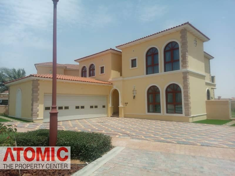 Furnished Villa  | 5 Bed Plus Maids | Lake View