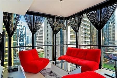 شقة 1 غرفة نوم للايجار في أبراج بحيرات الجميرا، دبي - Indigo tower 1 Bedroom opposite JLT Metro station