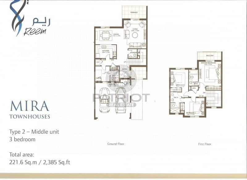 2 3 Bed Type 1M in Mira 5 | On Huge Park  | Single Row