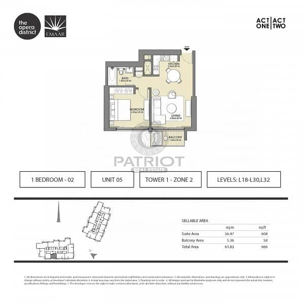 12 Unbelievable offer for 1br in Act 1 Act 2 | Call for details