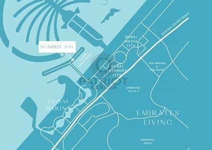 بنتهاوس 4 غرفة نوم للبيع في دبي هاربور، دبي - Live in Luxurious 4 Bed Penthouse with Beach Front View