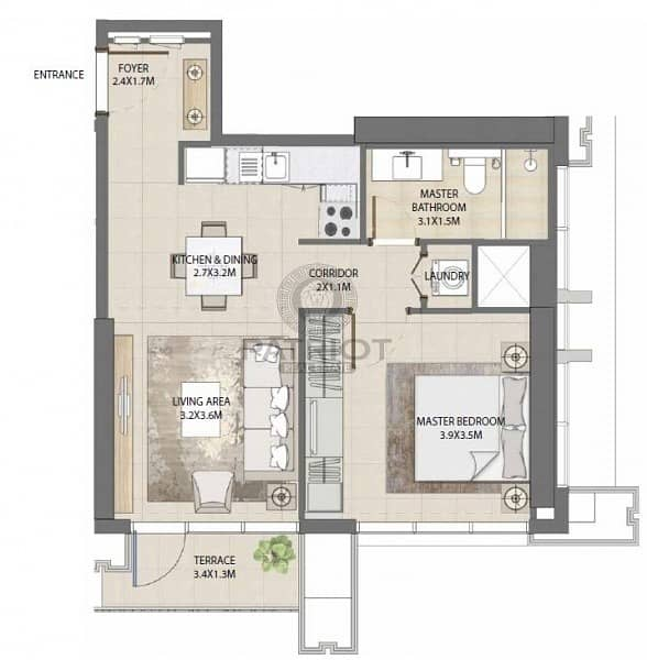 12 Investment -Luxury 2 BHK Apartment  - Emaar in Down Town