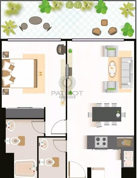 15 Invt - Opportunity own 1BHK with 1% Monthly Installment