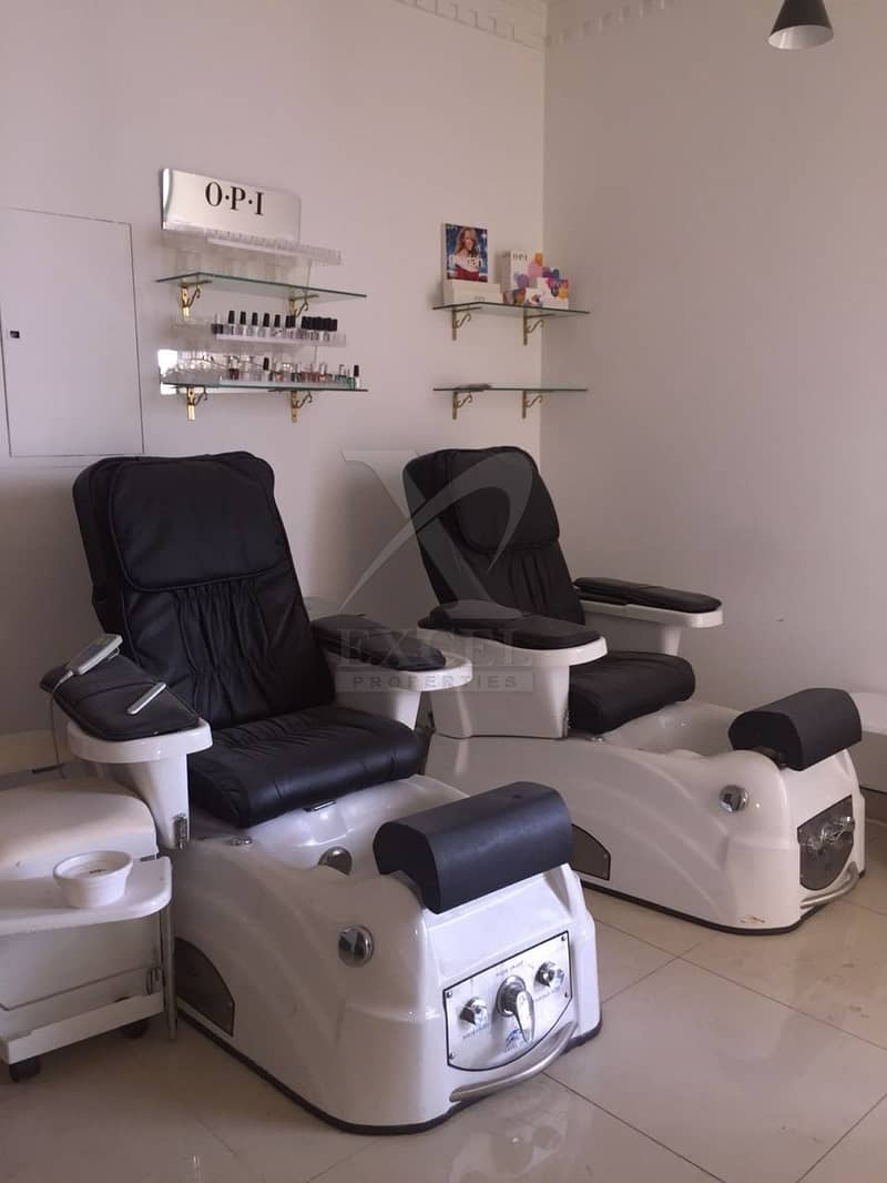 12 Fully Equipped Beauty Center  main road of Jumeirah 3.