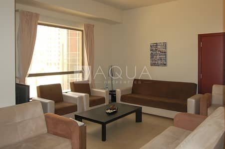 1 Bedroom Apartment for Rent in Jumeirah Beach Residence (JBR), Dubai - Courtyard view | Low Floor | Furnished 1 BR