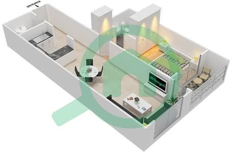 المخططات الطابقية لتصميم النموذج / الوحدة B/14 شقة 1 غرفة نوم - أبراج أحلام جولدكريست