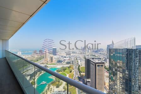 Upgraded 3 Beds + Maids   Sea View   High Floor