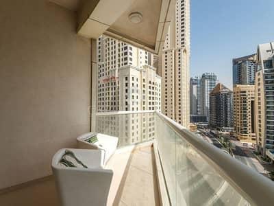 فلیٹ 3 غرفة نوم للايجار في دبي مارينا، دبي - With Sea View Fully Furnished 3 bed with maids
