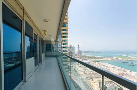 2 Bedroom Flat for Rent in Dubai Marina, Dubai - FULL SEA VIEW