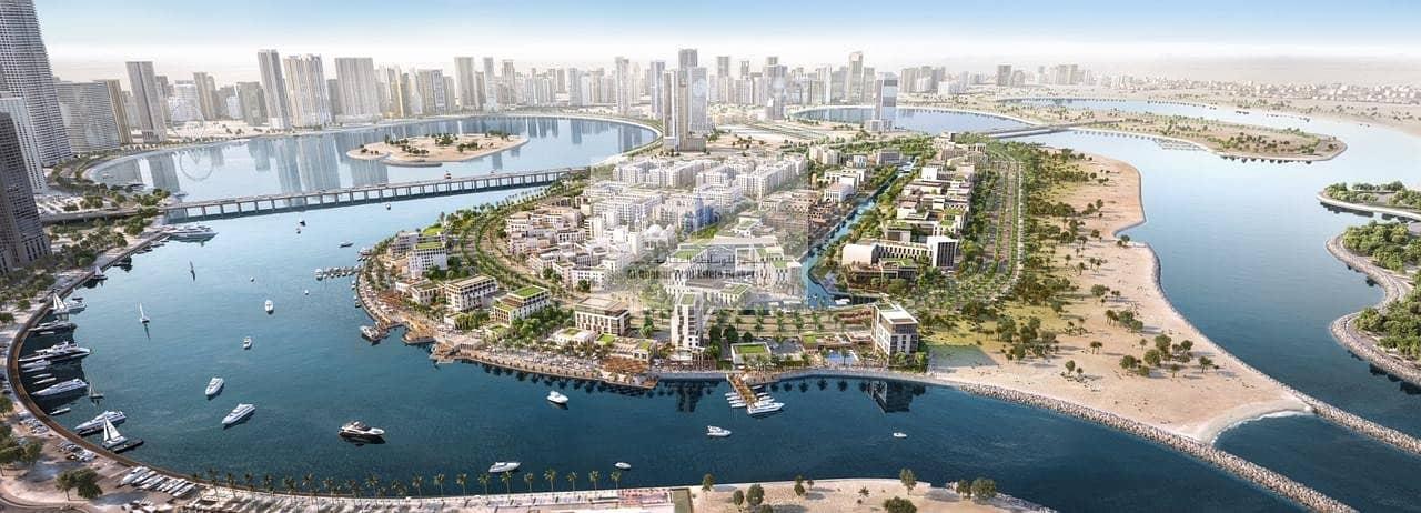 Own apartment in Sharjah facing Corniche Al Khan.