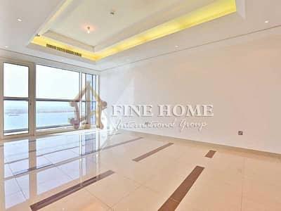 شقة 3 غرفة نوم للايجار في منطقة الكورنيش، أبوظبي - Amazing Sea View 3BR Apartment