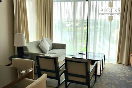 1 Bedroom Flat for Rent in The Hills, Dubai - Brand New 1BR Hotel Apartment! Lake View!