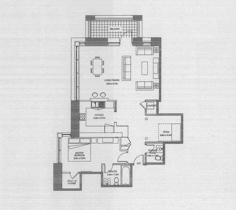 10 Exclusive   Largest 1 Bed + Study Layout