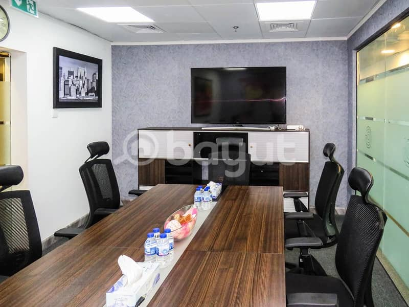 2 Executive fully furnished offices on rent- NO commission!