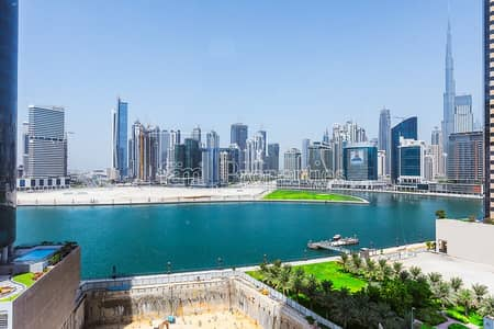 Office for Rent in Business Bay, Dubai - Fully Fitted | Burj Khalifa and Lake Views