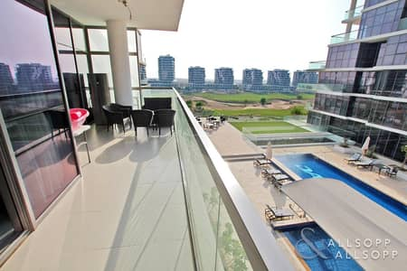 2 Bedroom Flat for Sale in DAMAC Hills (Akoya by DAMAC), Dubai - GC And Pool View | Large Balcony | 2 Bed